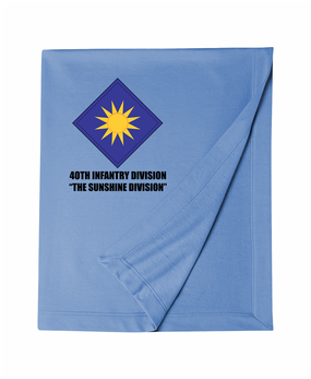 40th Infantry Division Embroidered Dryblend Stadium Blanket