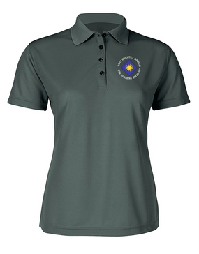 40th Infantry Division Ladies Embroidered Moisture Wick Polo Shirt (C)