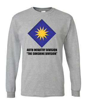 40th Infantry Division Long-Sleeve Cotton T-Shirt (FF)