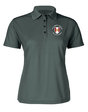 44th Medical Brigade Ladies Embroidered Moisture Wick Polo Shirt (C)