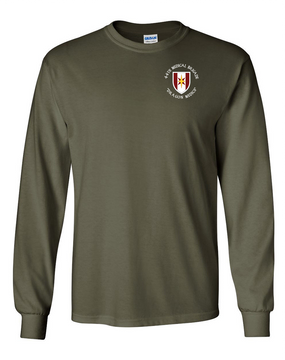 44th Medical Brigade Long-Sleeve Cotton T-Shirt (C)