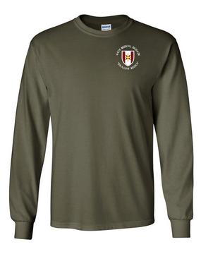 44th Medical Brigade Long-Sleeve Cotton T-Shirt (C)