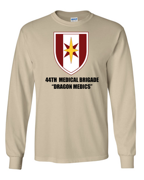 44th Medical Brigade Long-Sleeve Cotton T-Shirt (FF)