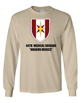 44th Medical Brigade Long-Sleeve Cotton T-Shirt (FF)