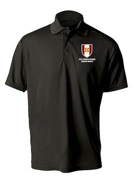 44th Medical Brigade Embroidered Moisture Wick Polo Shirt