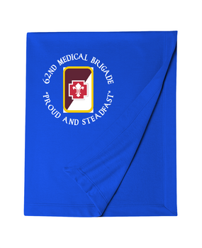 62nd Medical Brigade Embroidered Dryblend Stadium Blanket  (C)