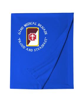 62nd Medical Brigade Embroidered Dryblend Stadium Blanket  (C)