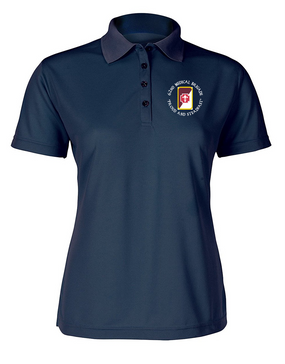 62nd Medical Brigade Ladies Embroidered Moisture Wick Polo Shirt (C)