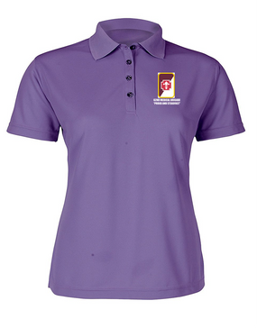 62nd Medical Brigade Ladies Embroidered Moisture Wick Polo Shirt