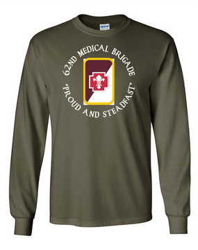 62nd Medical Brigade Long-Sleeve Cotton T-Shirt (C)(FF)