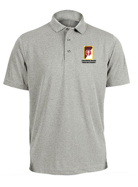 62nd Medical Brigade Embroidered Moisture Wick Polo Shirt