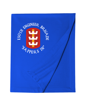 130th Engineer Brigade Embroidered Dryblend Stadium Blanket  (C)