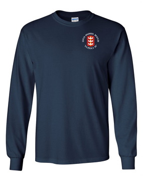 130th Engineer Brigade Long-Sleeve Cotton T-Shirt (C)