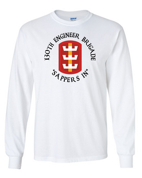130th Engineer Brigade Long-Sleeve Cotton T-Shirt (C)(FF)