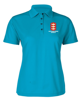 130th Engineer Brigade Ladies Embroidered Moisture Wick Polo Shirt