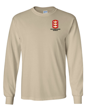 130th Engineer Brigade Long-Sleeve Cotton T-Shirt