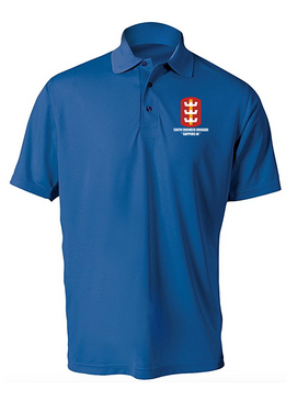 130th Engineer Brigade Embroidered Moisture Wick Polo Shirt