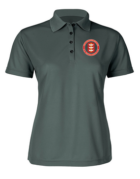 130th Engineer Brigade Ladies Embroidered Moisture Wick Polo Shirt -Proud