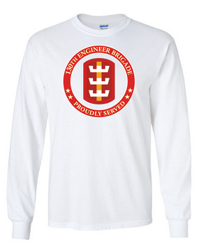 130th Engineer Brigade Long-Sleeve Cotton T-Shirt -Proud (FF)