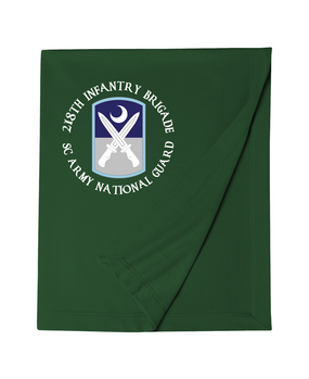 218th Infantry Brigade Embroidered Dryblend Stadium Blanket -(C)