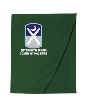 218th Infantry Brigade Embroidered Dryblend Stadium Blanket