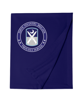 218th Infantry Brigade Embroidered Dryblend Stadium Blanket -Proud
