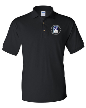 218th Infantry Brigade Embroidered Cotton Polo Shirt  (C)