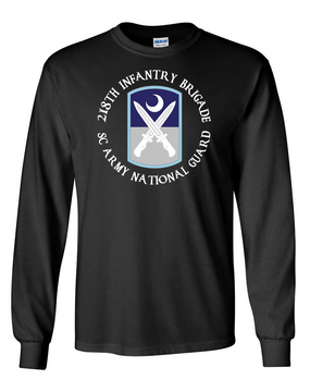 218th Infantry Brigade Long-Sleeve Cotton T-Shirt  (C)(FF)