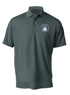 218th Infantry Brigade Embroidered Moisture Wick Polo Shirt -(C)