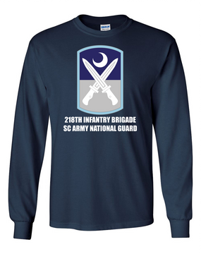 218th Infantry Brigade Long-Sleeve Cotton T-Shirt  (FF)