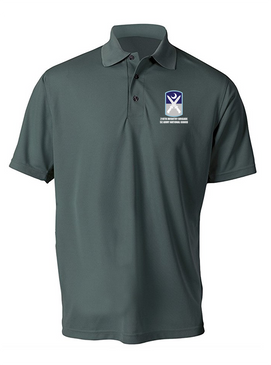 218th Infantry Brigade Embroidered Moisture Wick Polo Shirt -