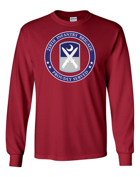 218th Infantry Brigade Long-Sleeve Cotton T-Shirt -Proud (FF)