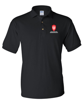 SCARWAF Embroidered Cotton Polo Shirt
