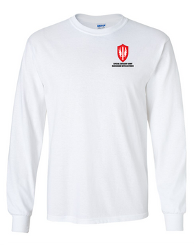 SCARWAF Long-Sleeve Cotton T-Shirt