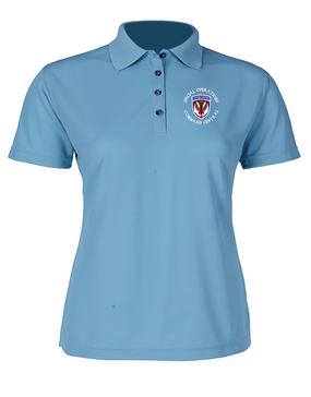 SOCCENT Ladies Embroidered Moisture Wick Polo Shirt (C)