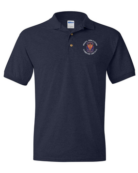 "SOCCENT ""Crest""  Embroidered Cotton Polo Shirt -(C)"