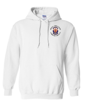 "SOCCENT ""Crest""  Embroidered Hooded Sweatshirt -(C)"