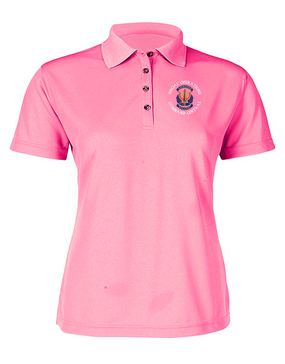 "SOCCENT ""Crest""  Ladies Embroidered Moisture Wick Polo Shirt (C)"