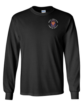 "SOCCENT ""Crest""  Long-Sleeve Cotton T-Shirt (C)"