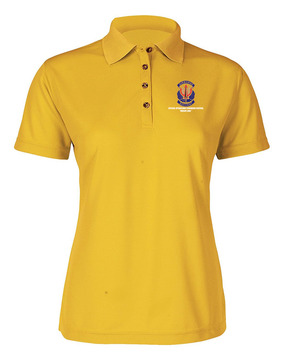 "SOCCENT ""Crest""  Ladies Embroidered Moisture Wick Polo Shirt"