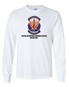 "SOCCENT ""Crest""  Long-Sleeve Cotton T-Shirt (FF)"
