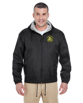 PSYOP Regimental Association Embroidered Fleece-Lined Hooded Jacket
