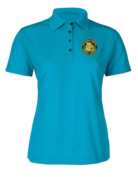 PSYOP Regimental Association Ladies Embroidered Moisture Wick Polo Shirt