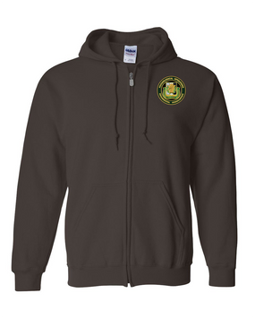 PSYOP Regimental Association Embroidered Hooded Sweatshirt with Zipper