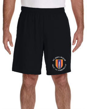1st Signal Brigade Embroidered Gym Shorts  (C)