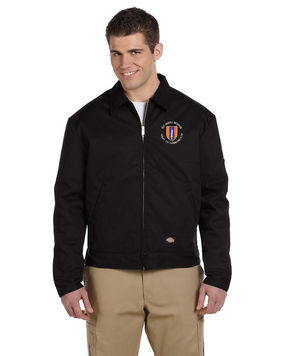 1st Signal Brigade Dickies 8 oz. Lined Eisenhower Jacket  (C)