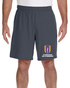 1st Signal Brigade Embroidered Gym Shorts