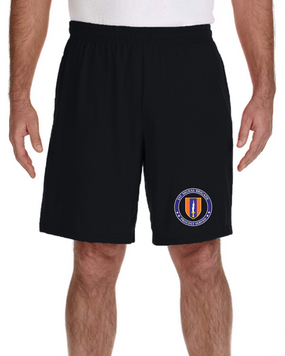 1st Signal Brigade Embroidered Gym Shorts  -Proud