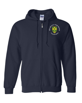 18th MP Brigade Embroidered Hooded Sweatshirt with Zipper (C)