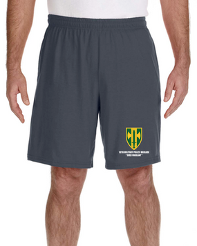 18th MP Brigade Embroidered Gym Shorts